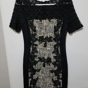 Black Moulinette Seours Dress, Size 4